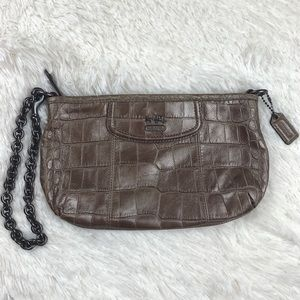 Coach bronze pouch adjustable chain